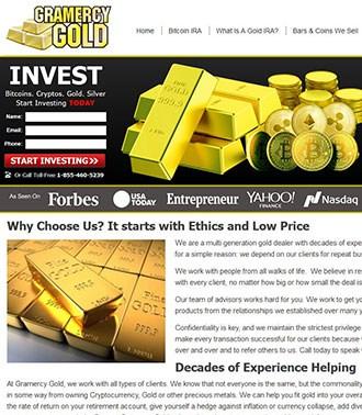אתר וורדפרס לחברת השקעות זהב